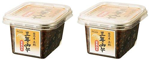 国内産立科三年みそ(玄米)300g ※2個セット (OS6069x2)※ 国内産玄米・大豆使用 熟成された旨みと甘み