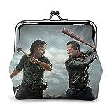 Rick Grimes Walking Dead Cartera de cuero con cierre de gran capacidad para mujeres y hombres cambio monedero carteras bolsa de almacenamiento bolsas de embrague