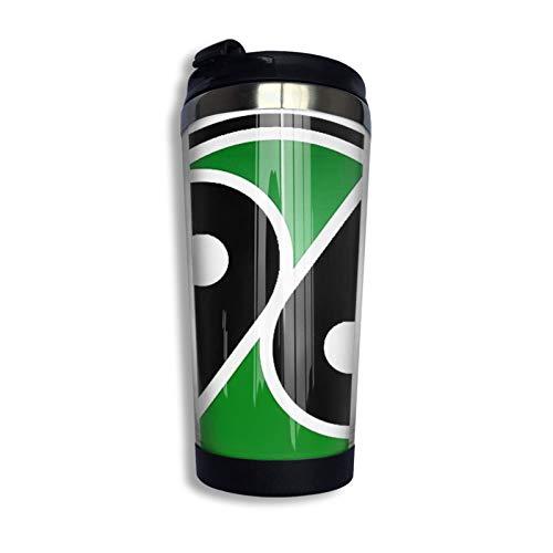 Yaxinduobao Hannover 96 Reisebecher Kaffeetasse Edelstahl Vakuumisolierter Becher 13,5 Unzen