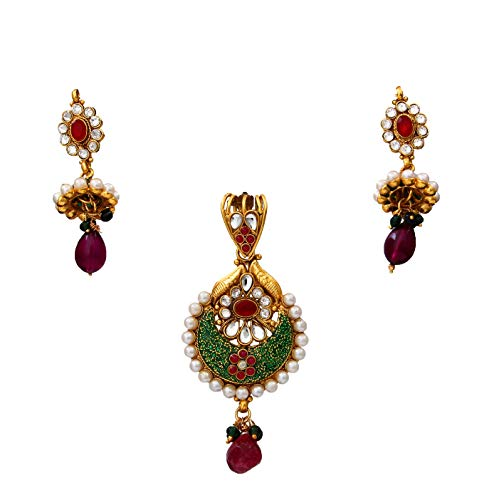 JewelryOnClick cobre chapado en oro Multi Crystal