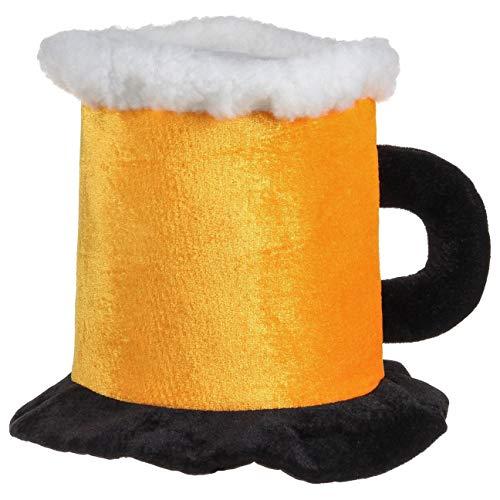 Bierhut mit Henkel (One Size, Gelb)