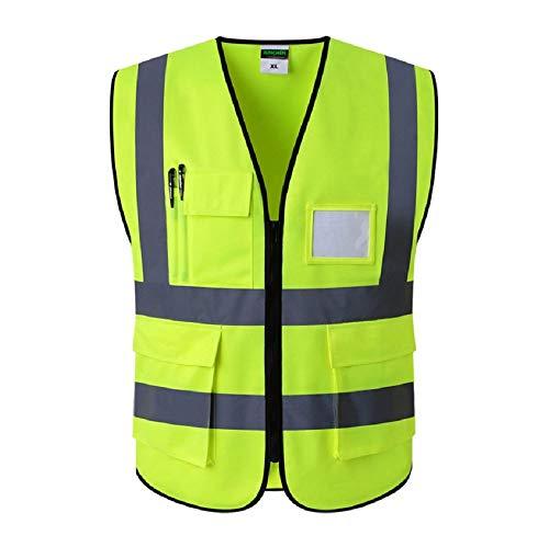 Hi Vis Viz Hoge Zichtbaarheid Reflecterende Fietsen & Hardlopen Veiligheid Vest Werkkleding Executive Taillejassen Jas Zip Beveiliging Outdoor Sport Jas
