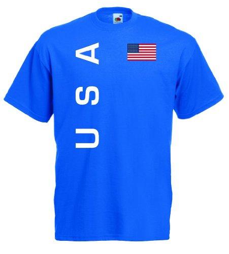 world-of-shirt Herren T-Shirt USA Trikot Fan Shirt|rb-l