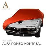 Star Cover Funda DE Coche para EL Interior A Medida Alfa Romeo Montreal | Rojo Cubierta DE Coche Interior | Lona Garaje para Auto | Funda DESCAPOTABLE, Coche CLÁSICO, Coche Deportivo | Entrega RÁPIDA