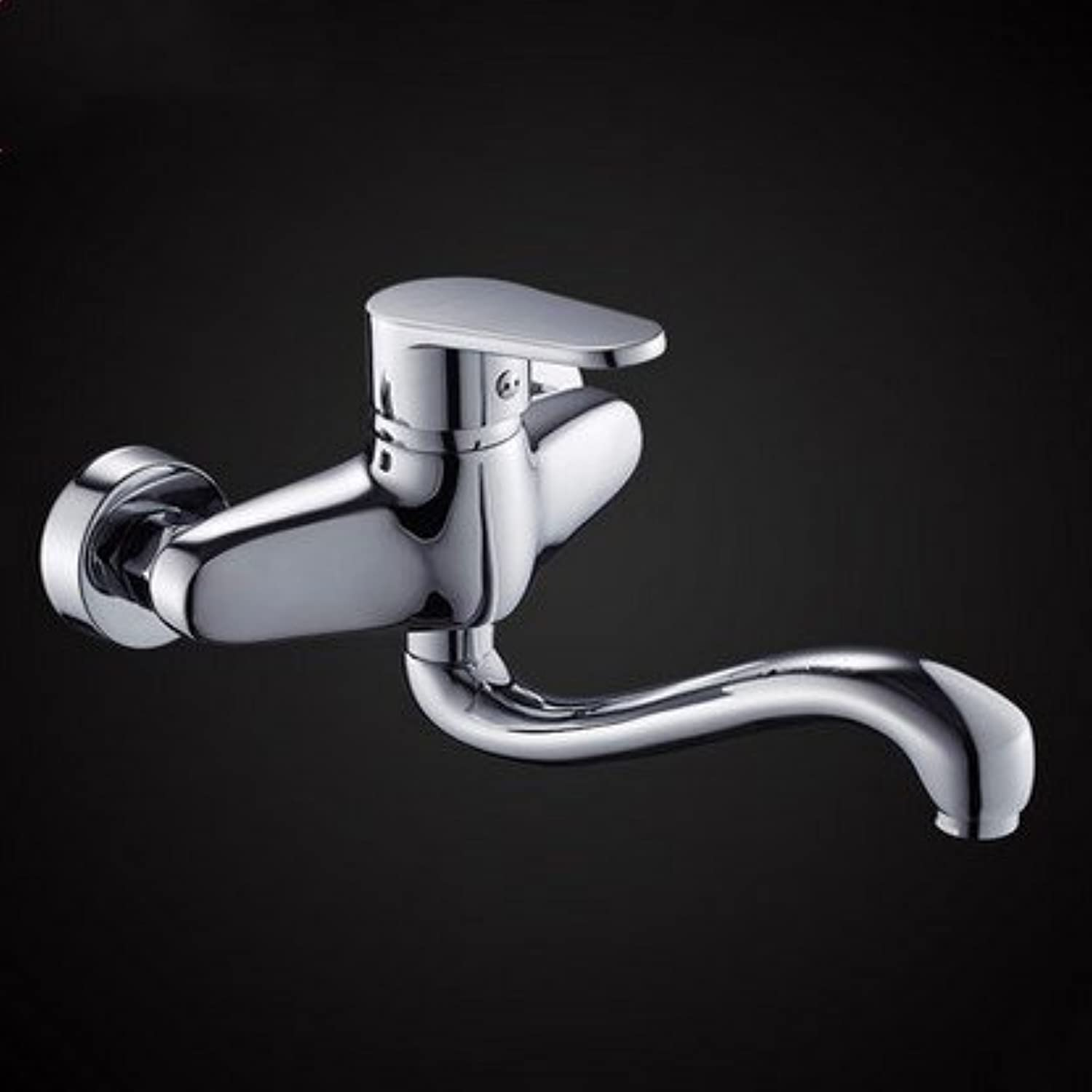 Diongrdk All Copper Hot and Cold Water Faucet Into Wall Faucet Kitchen Faucet Laundry Basin Pots Basin Flaps Can Be redated.