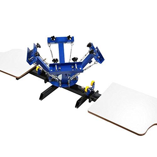 Techlifer Silk Screen Printing Machine 4 Colori 2 Stazioni Screen Printing Machine Machine Stampa Serigrafica Removibile