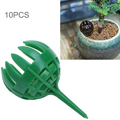 ZHAODONG Gartenbau Liefert 10 STÜCKE Bonsai Werkzeuge Gartengeräte Gartengeräte Bonsai Dünger Boxen, Große Größe: 5,5 * 4 * 4 cm (Kaffee) (Color : Green)