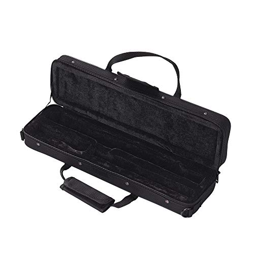 Negaor 16ホールCフルートケースギグバッグバックパックボックス