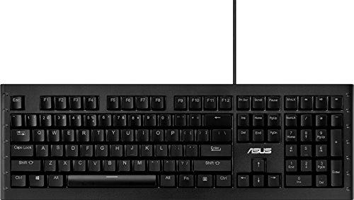 Asus GK1100 verlicht gamingtoetsenbord (bekabeld, programmeerbaar, Cherry-MX-blue-schakelaar, RGB, LED) zwart