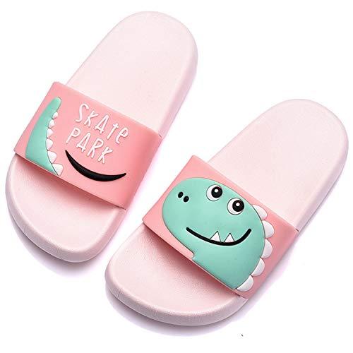 Chanclas de Playa Zapatos de Piscina para Niña Niño Sandalias Verano Antideslizante Zapatillas de Baño Casa Hombre Mujer Rosado25/26EU=26/27