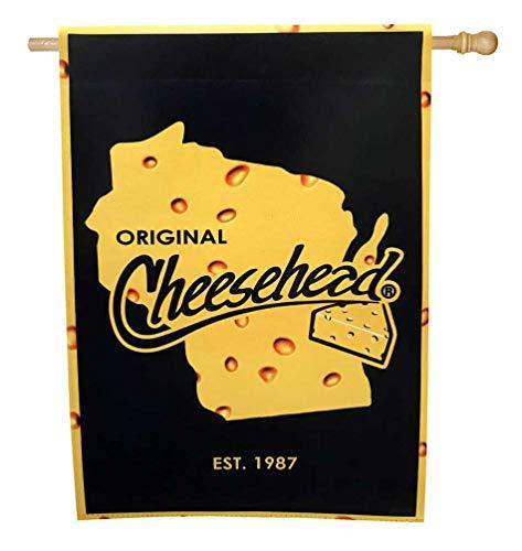 Original Cheesehead Deko Wildleder Gartenflagge 12,5 x 18 Zoll 14S5070