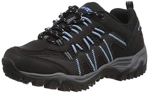 Hi-Tec Jaguar Womens Walking Shoe, Black/Forget ME NOT, 5 UK
