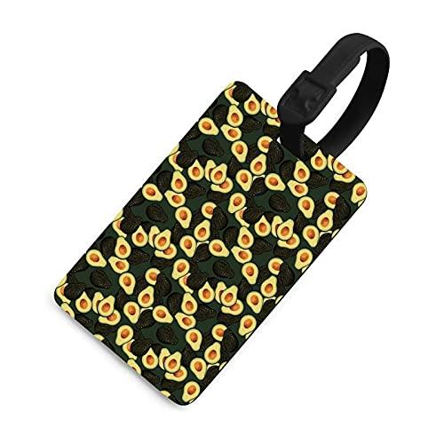 Etichetta per bagagli regolabile per bambini, identificativo della borsa con copertura della privacy, accessori per valigia/aereo/zaini, motivo frutta avocado