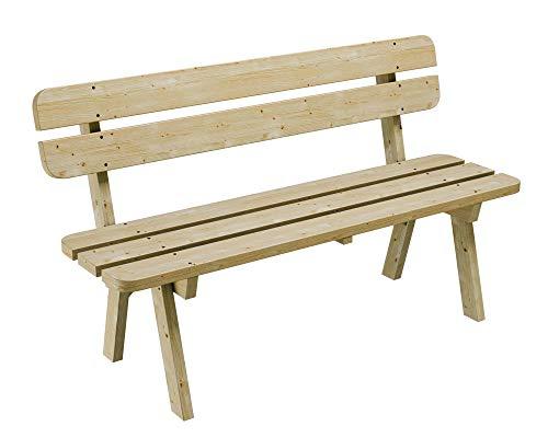 PLATAN ROOM Gartenmöbel aus Kiefernholz 120 cm breit Gartenbank Gartentisch Kiefer Holz massiv Imprägniert (Gartenbank, 120 cm)