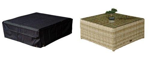 HBCOLLECTION Housse pour Table Basse carrée 93x93cm Gamme Confort