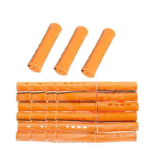 40 Pcs Self Grip Holding Bigoudis Rouleaux Ensemble Avec Couvercle Bangs Cheveux Rouleaux Perm Tiges pour Salon De Coiffure DIY Usage Domestique (Orange-2,2 cm)