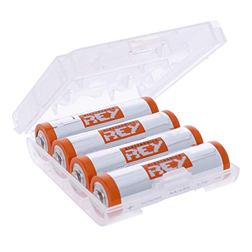 Caja Box Almacenado para Pilas AA, Blister Plástico Estuche Cubierta Color Transparente