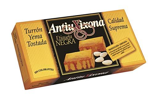 Antiu Xixona Etiqueta Negra - Turrón Yema Tostada 250g