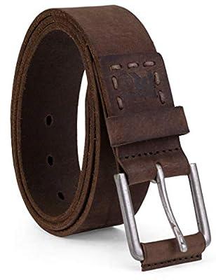 Timberland PRO Men's 40mm Workwear Leather Belt, dark brown/Pull up, 36