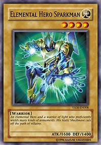 YU-GI-OH! - Elemental Hero Sparkman (YSDJ-EN008) - Starter Deck Jaden Yuki - 1st Edition - Common by