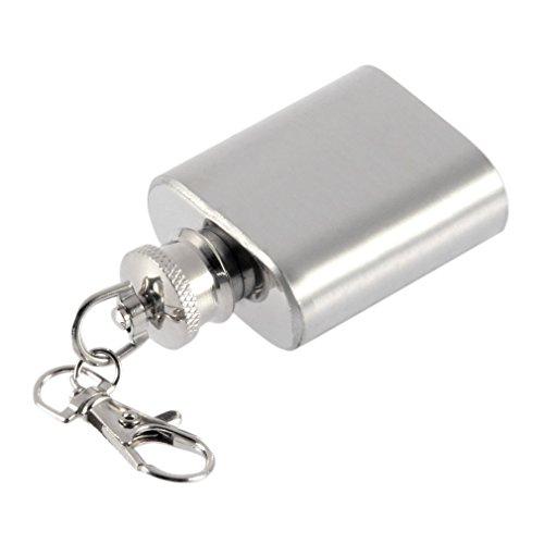 Unzen tragbar mini Edelstahl Flachmann Alkohol Schnabelkanne mit Schlüsselanhänger