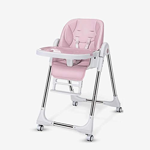 Review ZXCVB Baby High Chairfor Feeding Portable Baby Dining Table, Multifunctional Adjustable Foldi...