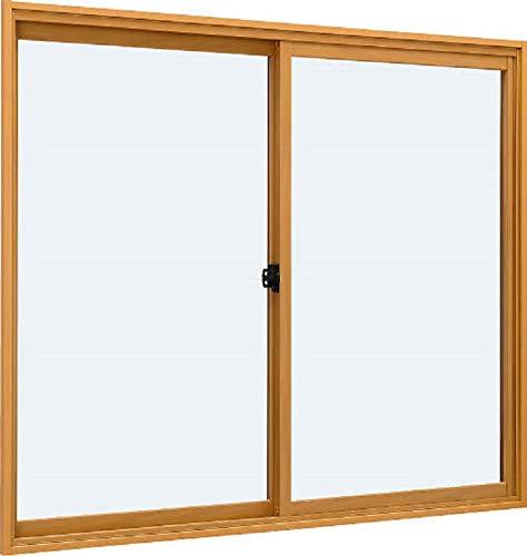 プラマードU 引き違い 2枚建て 複層ガラス 複層型 F4K+11+FL3 特注サイズ W:1,501〜2,000mm × H:801〜1,200mm 製品色:木目クリア(E2) 下枠種類:標準下枠 クレセント:あり YKK AP