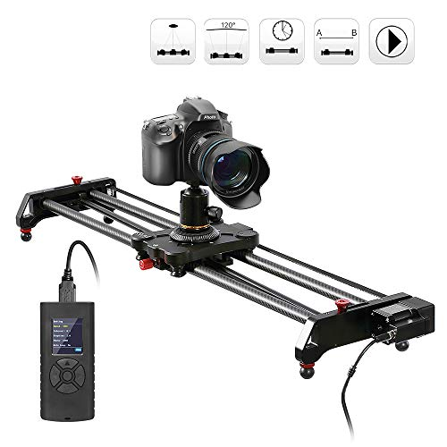 Camera Slider Track Dolly Slider Rail System with Motorized Time Lapse and Video Shot Follow Focus Shot and 120 Degree Panoramic Shooting 31' 80cm