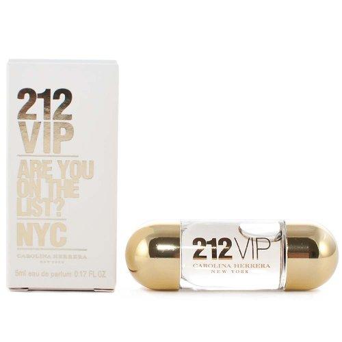 212 VIP by Carolina Herrera for Women 0.17 oz Eau de Parfum Miniature Collectible (0.17 Ounce Miniature Collectible)