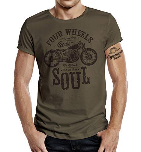 Biker T-Shirt: Two Wheels Move The Soul XL