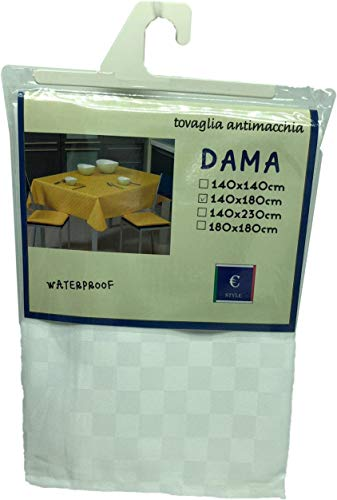 EUROSTYLE TOVAGLIA ANTIMACCHIA Tinta Unita Dama Jacquard (140X180CM, 6-Bianco)