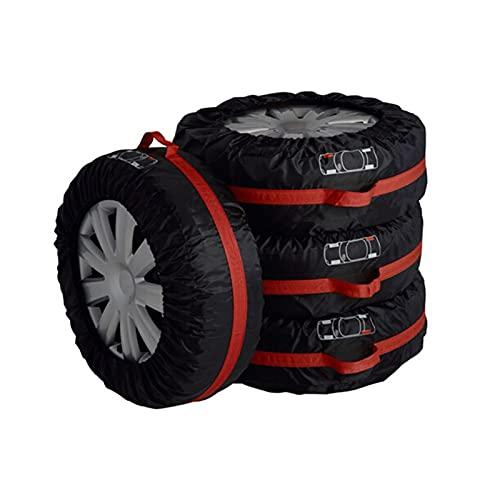Funda Protectora Para NeumáTicos,Fundas De Rueda 4 unids coche de recambio de neumáticos Caja de la cubierta de los neumáticos de invierno de verano Neumáticos de la bolsa de almacenamiento Accesorios