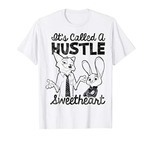 Disney Zootopia Nick & Judy It's Called A Hustle Sweetheart T-Shirt