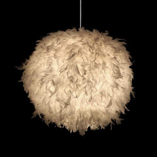 Weiße Feder Decke Pendelleuchte Schatten Romantische Einstellbare Tricolor Kronleuchter E27 Lampe Globale Lampenschirm Stehlampe Droplight Wohnzimmer Schlafzimmer Esszimmer