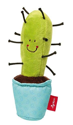 Sigikid 41436 Grasp Cactus/Estrellas Suave Juguete, Rojo,