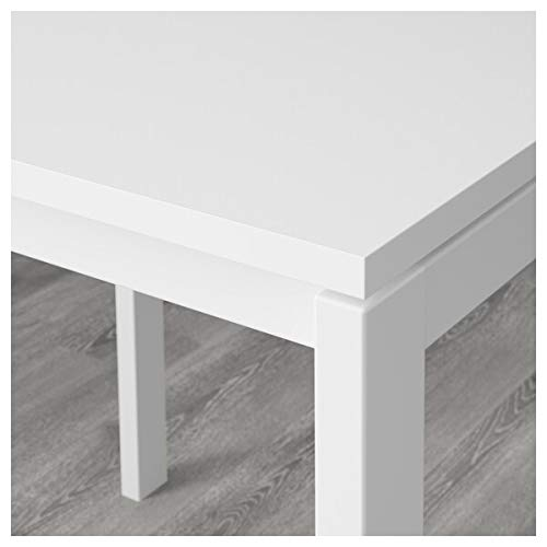 MELLTORP/MARIUS Mesa y 2 taburetes, color blanco, negro, 75 cm, resistente y fácil de cuidar. Conjuntos de comedor de hasta 2 plazas, mesas y escritorios, muebles respetuosos con el medio ambiente