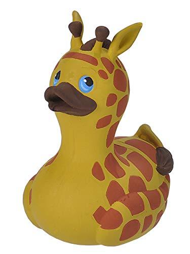 Wild Republic 23204 Rubber Duck, Gummiente, Giraffe, Badewannen-Geschenke für Kinder, Quietscheentchen, Badespielzeug für Babys, Gummiente lustig, Badeente zum Sammeln, 10 cm