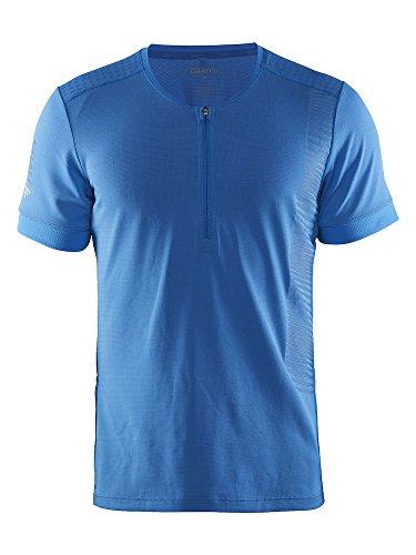 Craft 3D Run Grit Tee Shirt Bleu Ray Polo de Running