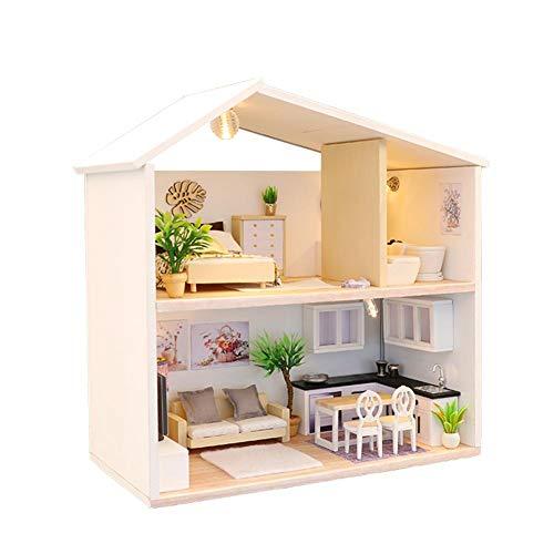 Diy Puppenhaus Bausatz Miniatur Kit Miniatur Villa, DIY Kabinenlichtzeit, Hölzernes Pädagogisches Spielzeug Der Kinder Kindergeburtstagsgeschenke, Neujahrsgeschenke