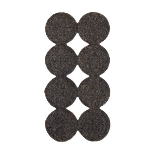 Filzgleiter, Möbelgleiter rund, ca. 2,5 cm Durchmesser, extra strapazierfähiger Filz, selbstklebend, 144 Stück, braun; als Bodenschutz für Möbelfüße, Tischbeine, Stuhlbeine, Stühle - Made in Canada