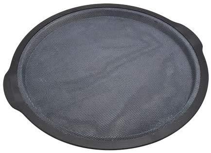 Zenker Pizzablech Ø32cm, hochwertige Glasfaser-Silikon-Backform mit starkem Nylonrand, abgerundete Form mit hervorragenden Antihafteigenschaften, ideal zum Backen zu Hause (Farbe: schwarz)