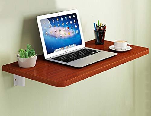 QQXX massief houten wandbehang computertafel klaptafel eettafel werktafel (kleur teak, grootte optioneel), hout 70 * 30cm n4 N4