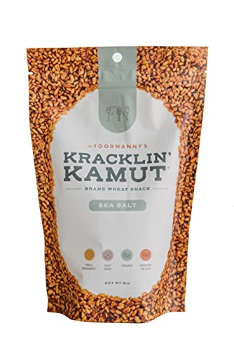 Food Nanny Kracklin' Kamut | Organic Ancient Grain Healthy Snack | Resealable (8oz)– Sea Salt