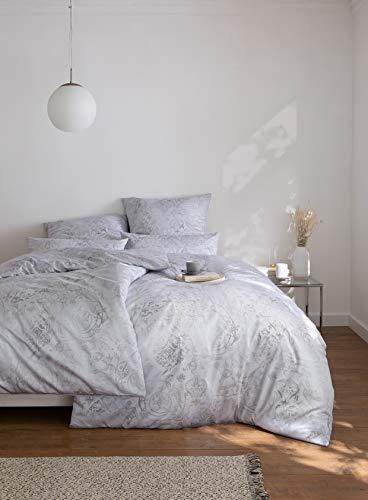 Estella Mako Interlock Jersey Bettwäsche 155x220 in silber