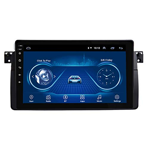 Kilcvt 2G RAM 9 Pulgadas Auto Radio Android 9 NavegacióN GPS EstéReo para AutomóVil, para BMW E46 M3 318/320/325/330/335 Soporte Control del Volante/TV/DVD/Am/FM/Bluetooth,4g WiFi 1g 16g