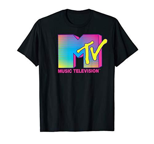 MTV Logo Fluorescent Colors Graphic T-Shirt, 5 Colors, S to 3XL
