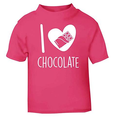 Flox Creative T-Shirt pour bébé Inscription I Love Chocolate - Rose - 2 Ans
