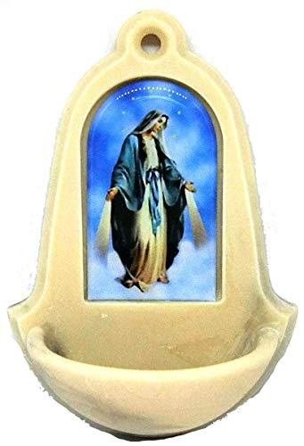 20.203.95004Agua Bendita de resina con lavabo. Virgen Maria Agua Santa