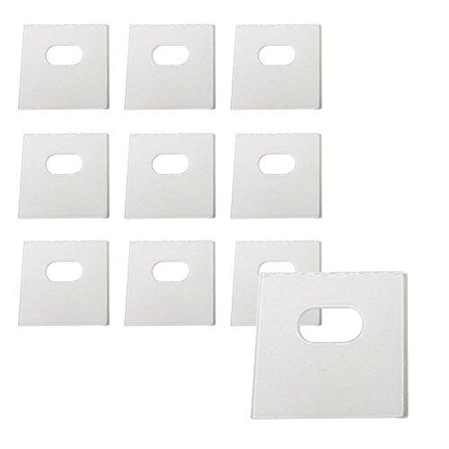 10 Sets of Clear Vertical Blind Repair Tabs / Vertical Blind Tabs / Blind Fixers - 20 Total Tabs (10 Sets) and 2 Alcohol Wipes