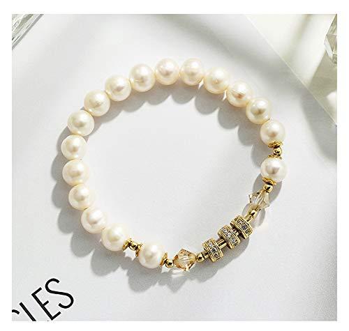 Dam pärlarmband smycke element kristallarmband alla hjärtans present till flickvän modearmband vit.